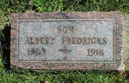 FREDRICKS, ALBERT - Cerro Gordo County, Iowa | ALBERT FREDRICKS
