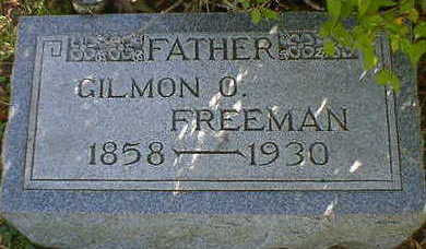 FREEMAN, GILMON O. - Cerro Gordo County, Iowa | GILMON O. FREEMAN