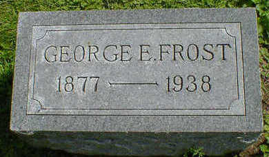 FROST, GEORGE E. - Cerro Gordo County, Iowa | GEORGE E. FROST