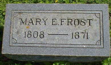 FROST, MARY E. - Cerro Gordo County, Iowa | MARY E. FROST