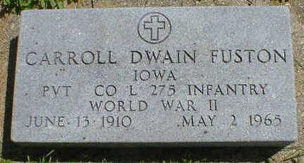 FUSTON, CARROLL DWAIN - Cerro Gordo County, Iowa   CARROLL DWAIN FUSTON