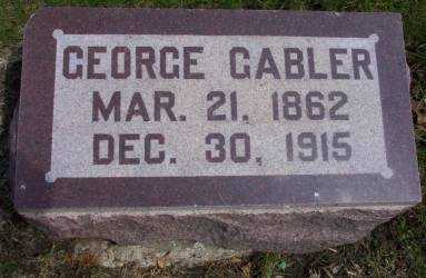 GABLER, GEORGE - Cerro Gordo County, Iowa | GEORGE GABLER