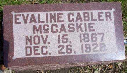 GABLER MCCASKIE, EVALINE - Cerro Gordo County, Iowa | EVALINE GABLER MCCASKIE