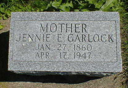 GARLOCK, JENNIE E. - Cerro Gordo County, Iowa | JENNIE E. GARLOCK