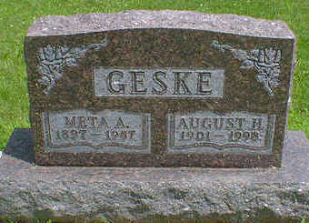 GESKE, AUGUST H. - Cerro Gordo County, Iowa | AUGUST H. GESKE