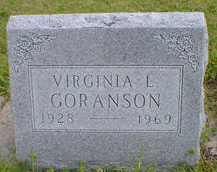 GORANSON, VIRGINIA L. - Cerro Gordo County, Iowa | VIRGINIA L. GORANSON