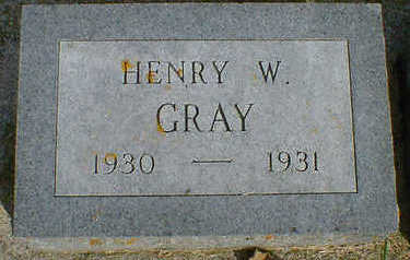 GRAY, HENRY W. - Cerro Gordo County, Iowa | HENRY W. GRAY