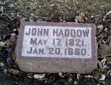 HADDOW, JOHN - Cerro Gordo County, Iowa | JOHN HADDOW