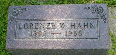 HAHN, LORENZE W. - Cerro Gordo County, Iowa | LORENZE W. HAHN