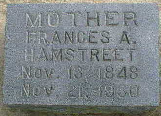 HAMSTREET, FRANCES A. - Cerro Gordo County, Iowa | FRANCES A. HAMSTREET