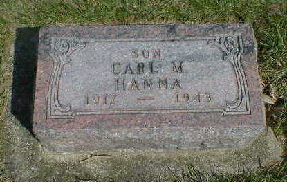 HANNA, CARL M. - Cerro Gordo County, Iowa | CARL M. HANNA