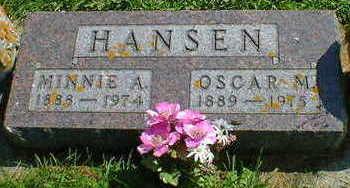 HANSEN, OSCAR M. - Cerro Gordo County, Iowa | OSCAR M. HANSEN
