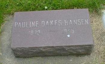 OAKES HANSEN, PAULINE - Cerro Gordo County, Iowa | PAULINE OAKES HANSEN