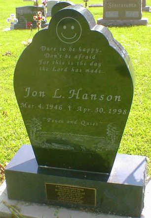 HANSON, JON L. - Cerro Gordo County, Iowa   JON L. HANSON