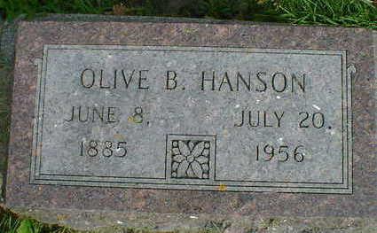 HANSON, OLIVE B. - Cerro Gordo County, Iowa | OLIVE B. HANSON