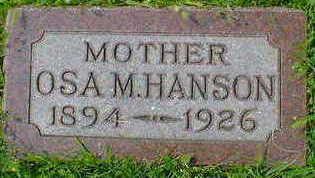 HANSON, OSA M. - Cerro Gordo County, Iowa | OSA M. HANSON