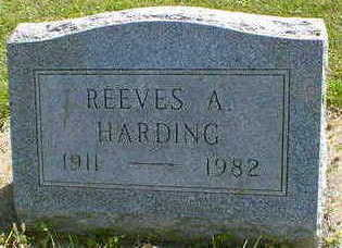 HARDING, REEVES A. - Cerro Gordo County, Iowa | REEVES A. HARDING