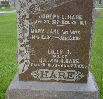 HARE, MARY JANE - Cerro Gordo County, Iowa | MARY JANE HARE