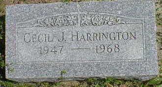 HARRINGTON,  CECIL J. - Cerro Gordo County, Iowa |  CECIL J. HARRINGTON