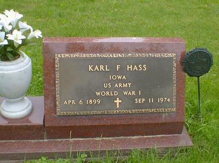HASS, KARL F. - Cerro Gordo County, Iowa | KARL F. HASS