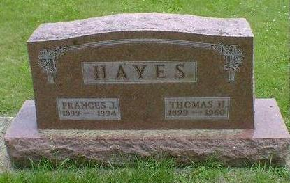 HAYES, FRANCES J. - Cerro Gordo County, Iowa | FRANCES J. HAYES