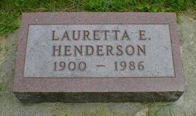HENDERSON, LAURETTA E. - Cerro Gordo County, Iowa | LAURETTA E. HENDERSON