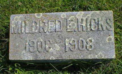 HICKS, MILDRED E. - Cerro Gordo County, Iowa   MILDRED E. HICKS