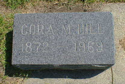 HILL, CORA M. - Cerro Gordo County, Iowa | CORA M. HILL