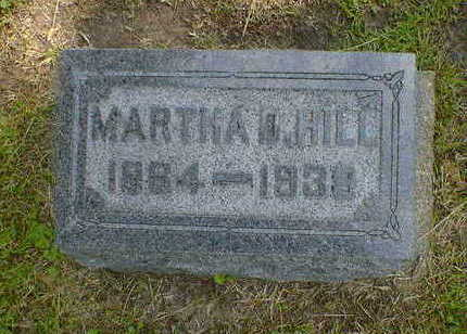 HILL, MARTHA D. - Cerro Gordo County, Iowa | MARTHA D. HILL