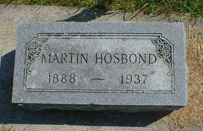 HOSBOND, MARTIN - Cerro Gordo County, Iowa | MARTIN HOSBOND