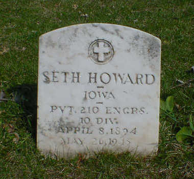 HOWARD, SETH - Cerro Gordo County, Iowa | SETH HOWARD