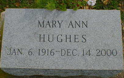 HUGHES, MARY ANN - Cerro Gordo County, Iowa | MARY ANN HUGHES