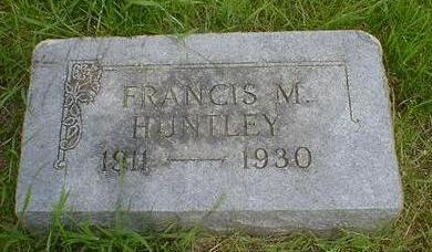 HUNTLEY, FRANCIS M. - Cerro Gordo County, Iowa | FRANCIS M. HUNTLEY