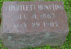 HUNTTING, BARTLETT - Cerro Gordo County, Iowa | BARTLETT HUNTTING