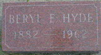 HYDE, BERYL E. - Cerro Gordo County, Iowa | BERYL E. HYDE