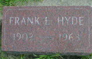 HYDE, FRANK E. - Cerro Gordo County, Iowa | FRANK E. HYDE