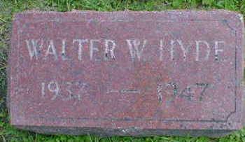 HYDE, WALTER W. - Cerro Gordo County, Iowa   WALTER W. HYDE