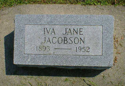 JACOBSON, IVA JANE - Cerro Gordo County, Iowa | IVA JANE JACOBSON