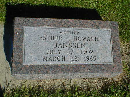 HOWARD JANSSEN, ESTHER I. - Cerro Gordo County, Iowa | ESTHER I. HOWARD JANSSEN