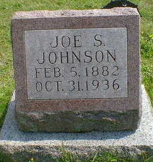 JOHNSON, JOE - Cerro Gordo County, Iowa   JOE JOHNSON