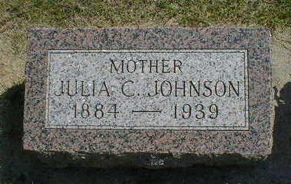 JOHNSON, JULIA C. - Cerro Gordo County, Iowa   JULIA C. JOHNSON