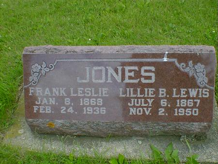 JONES, FRANK LESLIE - Cerro Gordo County, Iowa | FRANK LESLIE JONES