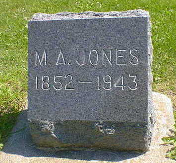 JONES, M. A. - Cerro Gordo County, Iowa | M. A. JONES
