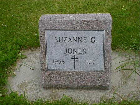 JONES, SUZANNE G. - Cerro Gordo County, Iowa | SUZANNE G. JONES