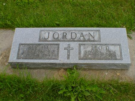 JORDAN, BERTHA - Cerro Gordo County, Iowa | BERTHA JORDAN