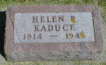KADUCE, HELEN R. - Cerro Gordo County, Iowa | HELEN R. KADUCE