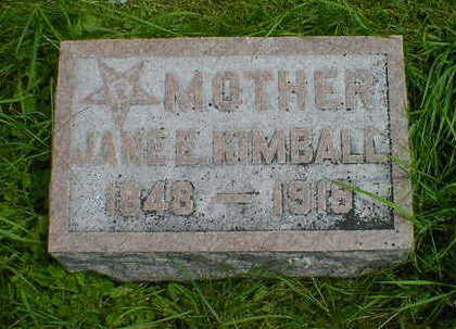 KIMBALL, JANE E. - Cerro Gordo County, Iowa | JANE E. KIMBALL