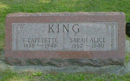 KING, SARAH ALICE - Cerro Gordo County, Iowa | SARAH ALICE KING