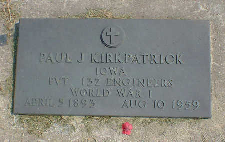 KIRKPATRICK, PAUL J. - Cerro Gordo County, Iowa | PAUL J. KIRKPATRICK