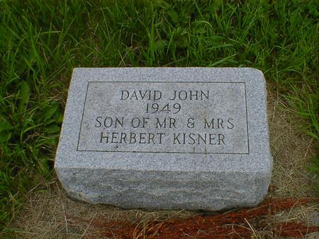 KISNER, DAVID JOHN - Cerro Gordo County, Iowa | DAVID JOHN KISNER